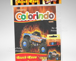 Kit Colorir Hot Whells + Brindes