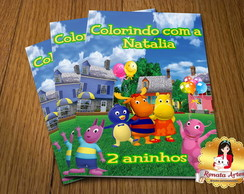 Revista Colorir Com giz Backyardigans