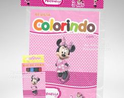 Kit Colorir Minnie Rosa + Brindes