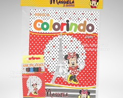 Kit Colorir Minnie Vermelha + Brindes