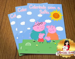Revista Colorir Com giz Peppa Pig