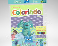 Kit Colorir Monstros S.A + Brindes