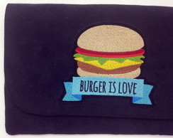 Clutch com Bordado Hamburguer LJ3