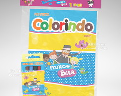 Kit Colorir Mundo Bita + Brindes