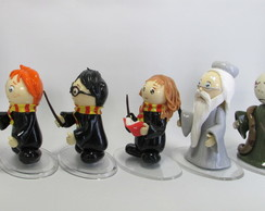 Harry Potter - 5 personagens em biscuit