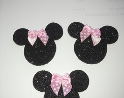 Aplique Minnie Vermelha/Rosa topper