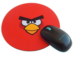 Mousepad Redondo Angry Bids Red