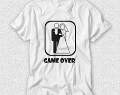 Camiseta Casamento - Game Over