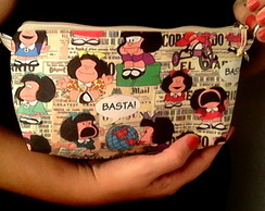 Mini-clutch Exclusiva - tecido Mafalda