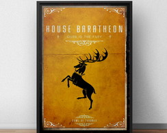 Quadro Game Of Thrones Baratheon Moldura