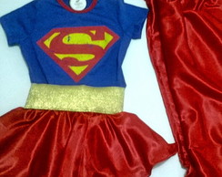 Fantasia super girl infantil.