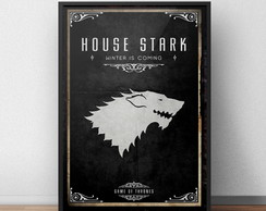 Quadro Game Of Thrones Stark com Moldura