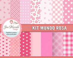 Kit Digital Mundo Rosa