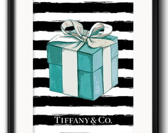Quadro Tiffany Caixa Fashion com Paspatur