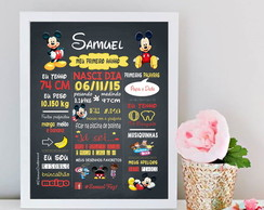 Chalkbord Mickey - Arte Digital