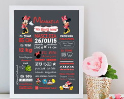 Chalkbord Minnie Vermelha - Arte Digital