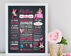 Chalkbord Minnie Rosa - Arte Digital