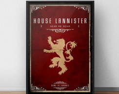 Quadro Game Of Thrones Lannister Moldura