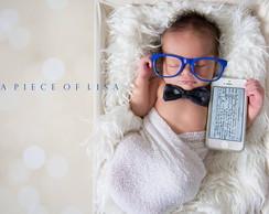 eb6c87d590f68 ... Óculos sem lentes Marinho - Newborn Bebê