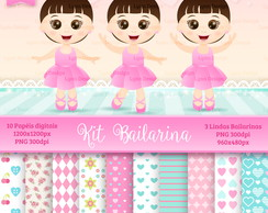 Kit Digital Bailarinas - Lynn Design