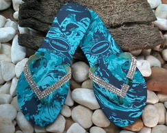 Havaiana Flat decorada.