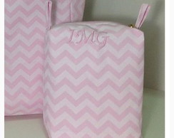 Necessarie chevron rosa