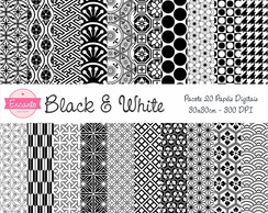 Kit Papel Digital - Black & White