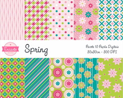 Kit Papel Digital - Spring