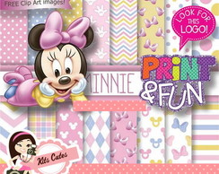 Kit Papéis Minnie Baby 01