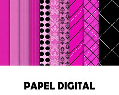 Papel Digital Rosa e Preto