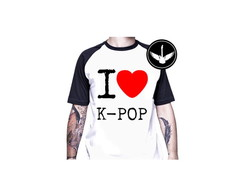 Camiseta raglan I Love K-Pop
