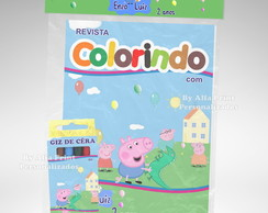 Kit Colorir George Pig + Brindes