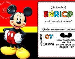 Convite do Mickey com Envelope