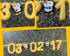 Varal Save The Date Casal de Pinguins