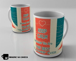 Caneca Keep Calm English Teacher