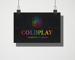 Poster A3 Coldplay