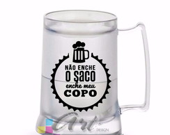 Caneca com Gel de Chopp 450 ml- Carnaval