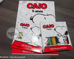 Kit Colorir c/ Massinha Modelar Snoopy