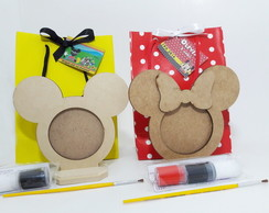 Kit sacolinha Mickey e Minnie guache