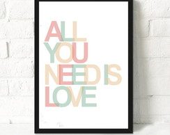Quadros/Poster/Digital | All You Need