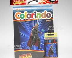 Kit Colorir Thor + Brindes