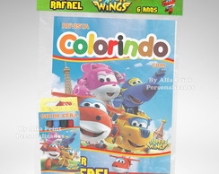 Kit Colorir Super Wings + Brindes