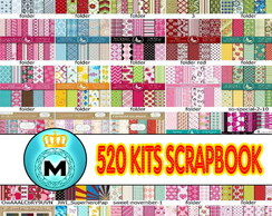 520 Kits Papel Scrapbook Digital