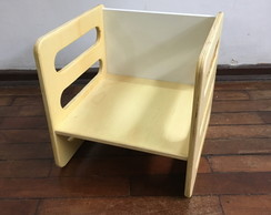 Cadeira Cubo (Cube Chair) Tam. P Natural
