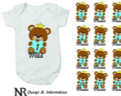 Kit body personalizado 12 meses