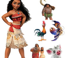 Kit Display Festa Infantil Moana