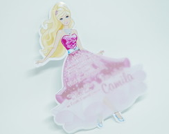 Convite Infantil Barbie Princess
