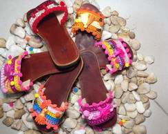 CHINELO EM COURO FLIP FLOP BY VIC