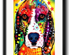 Quadro Beagle Pop Art com Paspatur