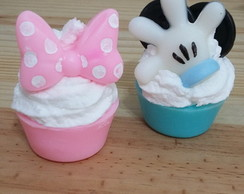 cupcake de sabonete da Minnie, do Mickey